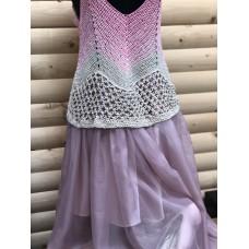 Ефирна лятна рокля розово. Summer pink dress