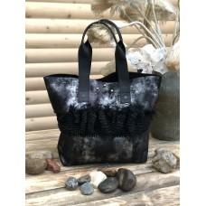 Black Leather Everyday Handbag