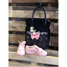 Black pink bag