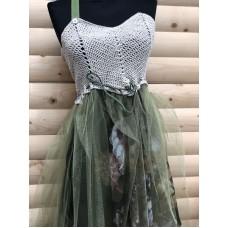 Ефирна дамска рокля с тюл