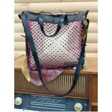 Bag leather/Кожена чанта с плетиво