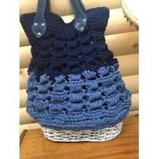 Blue basket bag