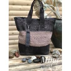 Beige leather bag /Кожена чанта с две дръжки