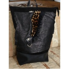 Black animal backpack