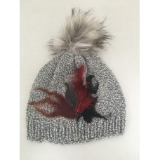 Grey feathers hat